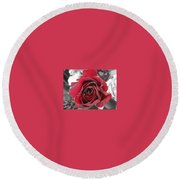 Burning Desire Round Beach Towel