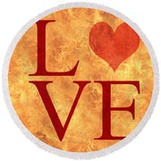 Burning Love Round Beach Towel