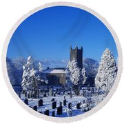 Bushmills Church, County Antrim Round Beach Towel