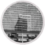 Business Center Round Beach Towel