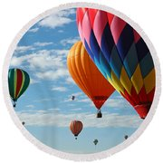 Busy Times Round Beach Towel