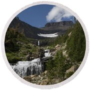 Butte At Lunch Creek  Round Beach Towel