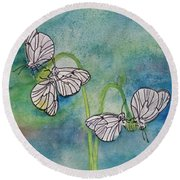 Butterflies Hanging Out Round Beach Towel