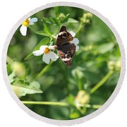 Butterfly 25 Round Beach Towel
