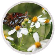 Butterfly 41 Round Beach Towel