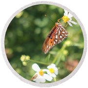 Butterfly 47 Round Beach Towel