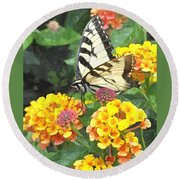 Butterfly Dining Bdwc Round Beach Towel