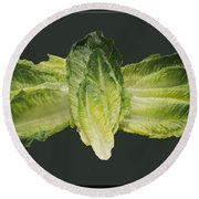Butterfly Lettuce Round Beach Towel