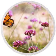 Butterfly - Monarach - The Sweet Life Round Beach Towel
