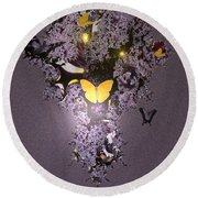 Butterfly Paradise Round Beach Towel