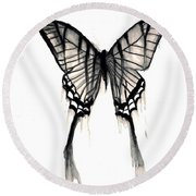 Butterfly Tears 2 Round Beach Towel