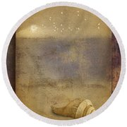 By The Sea Round Beach Towel
