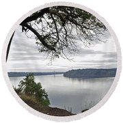 By The Still Waters Round Beach Towel