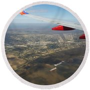 By Water  By Air Round Beach Towel
