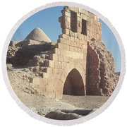 Byzantine Ruins Round Beach Towel by Photo Researchers, Inc.