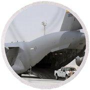 C-17s Deliver, Pick-up Cargo Round Beach Towel
