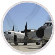 C-2a Greyhound Aircraft Start Round Beach Towel
