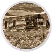 Cabin Fever Round Beach Towel by Shane Bechler
