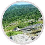 Cadillac Mountain Rocky View Round Beach Towel
