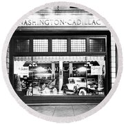 Cadillac Storefront, 1927 Round Beach Towel