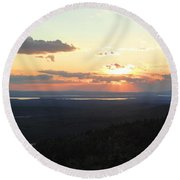 Cadillac Sunset Round Beach Towel