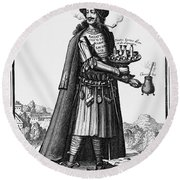 Cafe Owner, C1690 Round Beach Towel