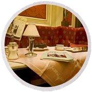 Cafe Sacher - Vienna Round Beach Towel