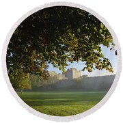 Cahir Castle Cahir, County Tipperary Round Beach Towel