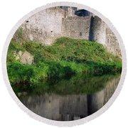 Cahir Castle, River Suir, County Round Beach Towel