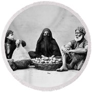 Cairo: Natives Round Beach Towel