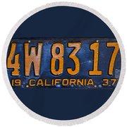 California 1937 Round Beach Towel