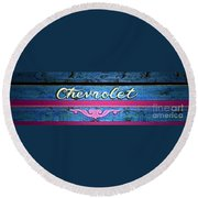 California Chevy Chic Round Beach Towel