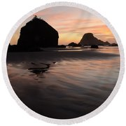 California Coast 2 Round Beach Towel