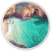 California Dreaming Round Beach Towel