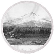 California: Mount Shasta Round Beach Towel