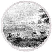 California: Vallejo, 1852 Round Beach Towel
