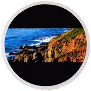 California Waterfront Round Beach Towel