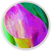 Calla Lily Art  Round Beach Towel