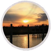 Calm After The Storm Round Beach Towel