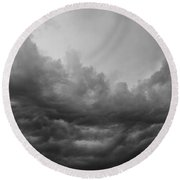 Calm Before The Storm Round Beach Towel