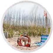 Calm By The Sea Round Beach Towel