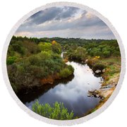 Calm River Round Beach Towel by Carlos Caetano