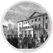 Cambridge University, 1862 Round Beach Towel