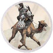 Camel & Rider Round Beach Towel
