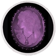 Cameo In Light Pink Round Beach Towel