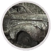 Camouflage Classic Car Round Beach Towel
