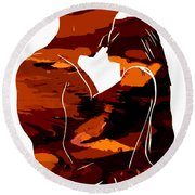 Camouflage Lovers Round Beach Towel