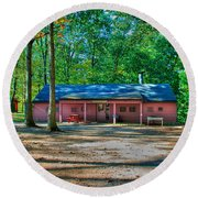 Camp Milton Round Beach Towel
