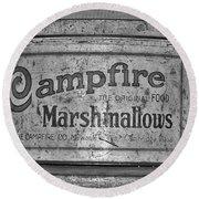 Campfire Marshmallows Round Beach Towel