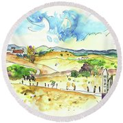 Campo Maior In Portugal 01 Round Beach Towel